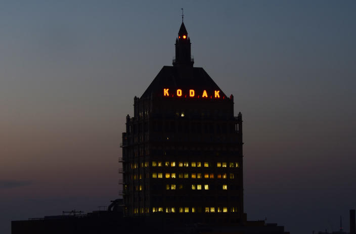 This Aug. 28, 2013 photo shows Kodak Headquarters in Rochester, N.Y. Kodak CEO, Antonio Perez said the shedding of Kodak's consumer film, camera and other businesses has allowed it to focus research and development on businesses the company sees as more profitable. (AP Photos/Heather Ainsworth)
