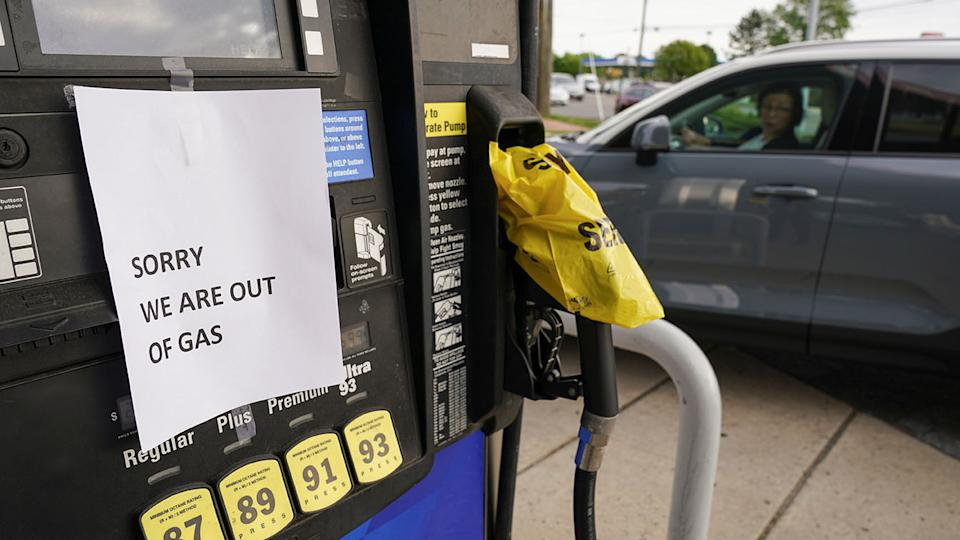 Gas stations from Florida to Virginia began running dry, and prices at the pump rose after the shutdown of the Colonial Pipeline by hackers. (Kevin Lamarque/Reuters)