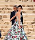 <p>Clooney and his wife, Amal Clooney, attend the Heavenly Bodies: Fashion & The Catholic Imagination Costume Institute Gala at The Metropolitan Museum of Art on May 7, 2018 in New York City.</p>