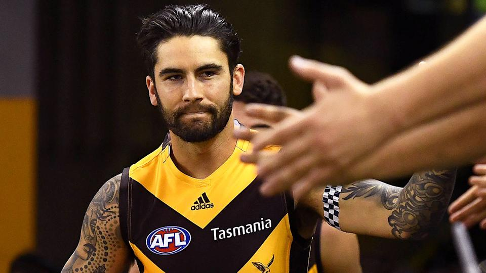 Pictured here, Hawthorn star Chad Wingard.