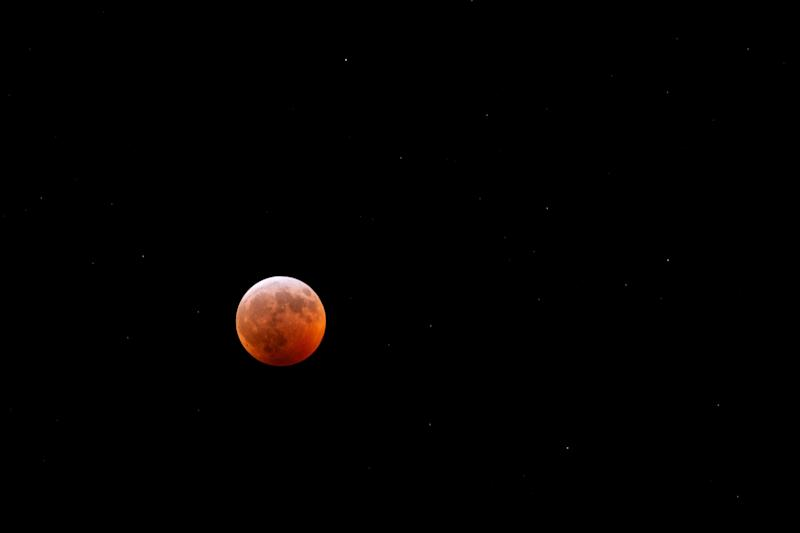 The total lunar eclipse over Spotsylvania, Virginia, Jan. 21.