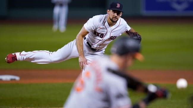Eovaldi's solid outing, Devers' hit lift Sox over O's 9-1