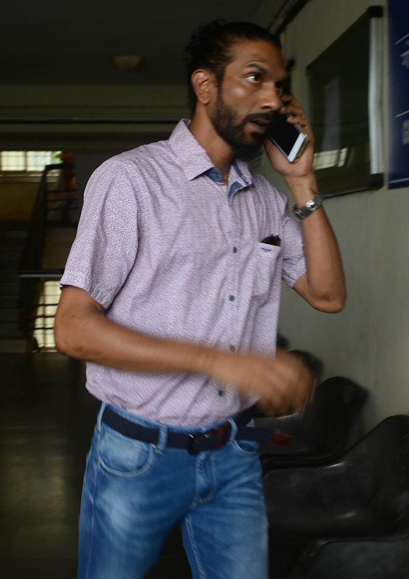 Samson D'Souza, one of two Indian defendents in the case of the rape and death of British schoolgirl Scarlett Keeling in Goa in 2008, arrives at the Childrens Court in Panaji on September 23, 2016. A court in India cleared two men September 23 accused of the rape and homicide of 15-year-old British schoolgirl Scarlett Keeling whose bruised and semi-nude body was found on a Goa beach eight years ago. Friends and relatives of the two accused, Samson D'Souza and Placido Carvalho, cheered as the verdict was read out in the state capital Panaji. / AFP / INDRANIL MUKHERJEE (Photo credit should read INDRANIL MUKHERJEE/AFP/Getty Images)