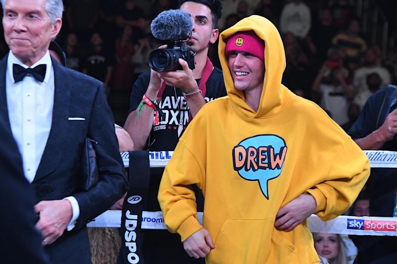 Supporter: Bieber was there to cheer on Paul (Getty Images)