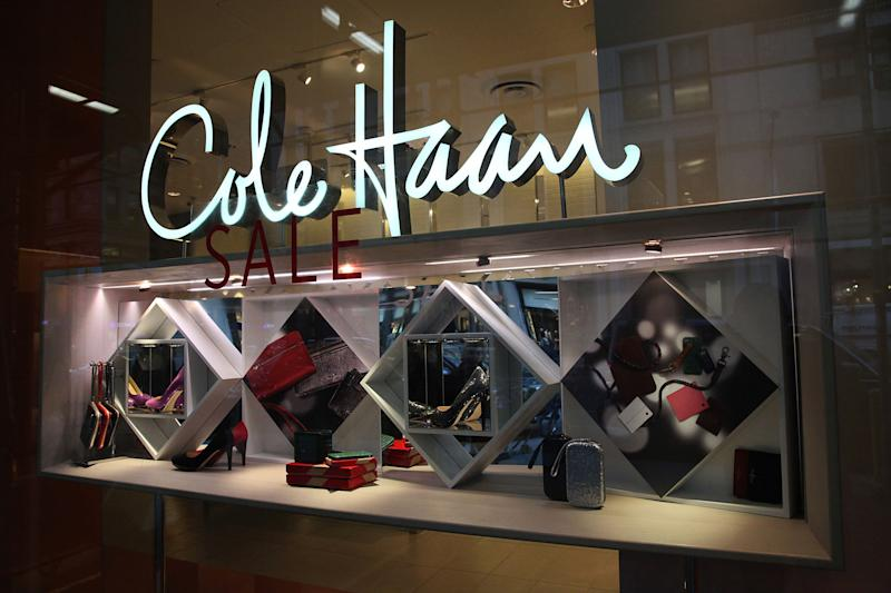 Cole Haan store holiday display in New York City.
