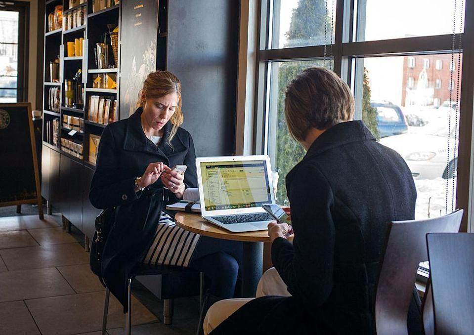 <p>In 2002, the coffee company serviced each of its locations with fully powered free Wi-Fi. Still early in the digital age, the idea soon made Starbucks the most buzzed-about new work spaces.</p>