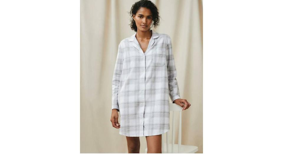 Sparkle Check Nightshirt (The White Company)