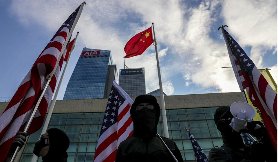 The protesters say sanctions by foreign governments would be a morale booster. Photo: Sam Tsang