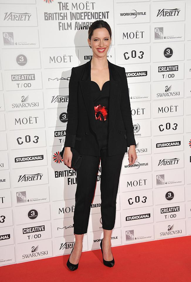 """<a href=""""http://movies.yahoo.com/movie/contributor/1809680090"""">Rebecca Hall</a> at the 2011 British Independent Film Awards on December 4, 2011 in London, England."""