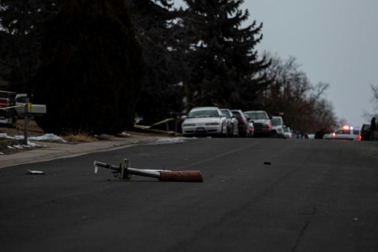 Debris from a United Airlines jet that had suffered engine failure on its way to Hawaii was scattered through Broomfield, outside Denver, Colorado, on February 20, 2021