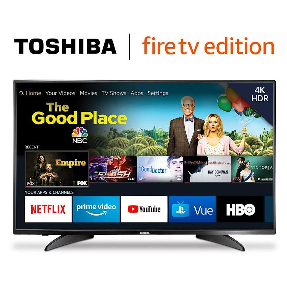 This Toshiba comes with a built-in Fire TV. (Photo: Amazon)