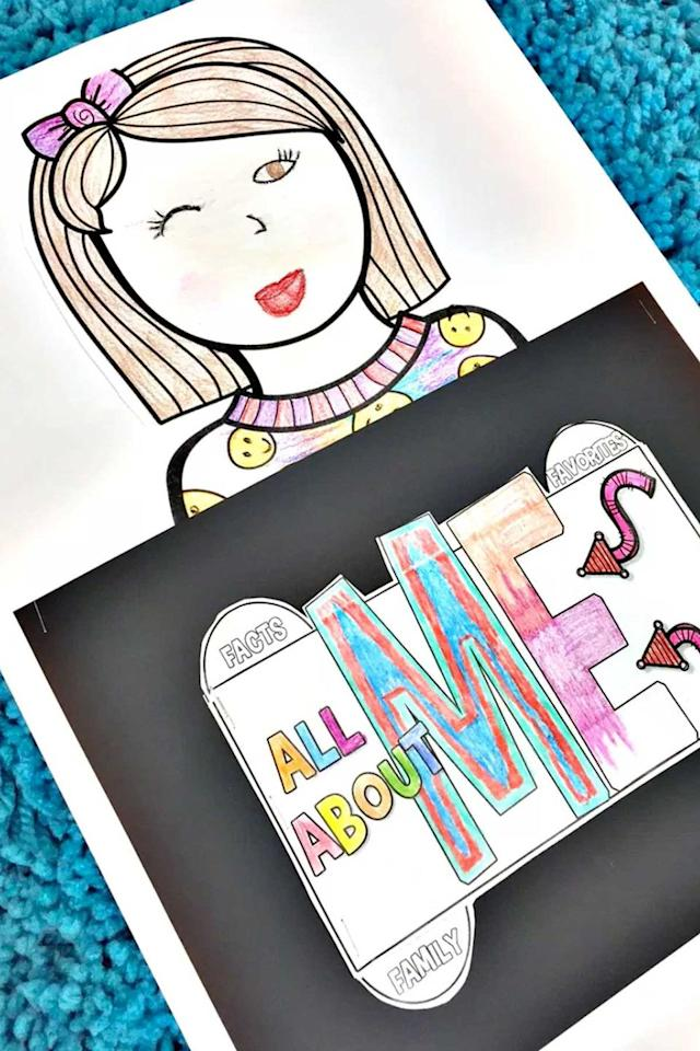 """<p>Encourage your students to introduce themselves to everyone in the class with this creative fill-in-the-blank booklet. </p><p><strong>Get the tutorial at <a rel=""""nofollow"""" href=""""http://simplyskilledinsecond.com/2016/07/all-about-me-back-to-school-project/"""">Simply Skilled in Second</a>. </strong></p><p><strong>What you'll need:  </strong>Markers ($11, <a rel=""""nofollow"""" href=""""https://www.amazon.com/Sargent-Art-22-1592-Classic-Peggable/dp/B007VYLQG0"""">amazon.com</a>)<br></p>"""