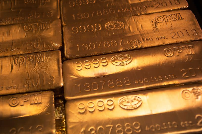 Gold eases on profit-taking, but holds above $1,700 level