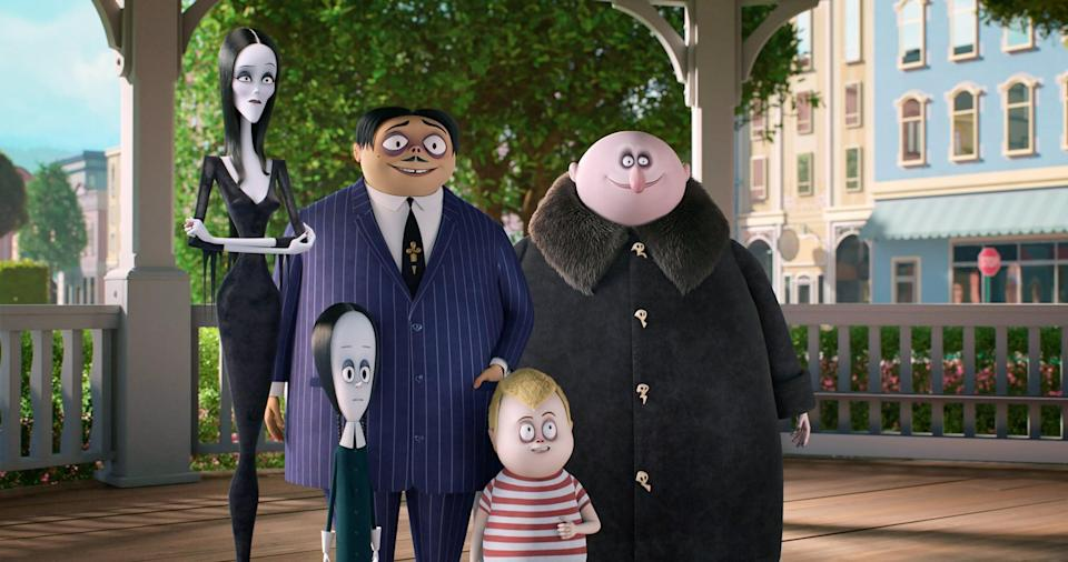 "<p>The iconic version of <strong>The Addams Family </strong> (<a href=""http://www.netflix.com/title/217258"" class=""link rapid-noclick-resp"" rel=""nofollow noopener"" target=""_blank"" data-ylk=""slk:currently on Netflix"">currently on Netflix</a>, if you're interested) might lean a little more morbid and wry, but the animated take is perfect for kids. <a class=""link rapid-noclick-resp"" href=""https://www.popsugar.com/Charlize-Theron"" rel=""nofollow noopener"" target=""_blank"" data-ylk=""slk:Charlize Theron"">Charlize Theron</a> voices <a href=""https://www.popsugar.com/entertainment/morticia-addams-quotes-46702303"" class=""link rapid-noclick-resp"" rel=""nofollow noopener"" target=""_blank"" data-ylk=""slk:Morticia Addams"">Morticia Addams</a>, the witchy matriarch of this spooky household. While the family is trying to prepare for creepy relatives to visit, they find themselves the targets of a meddling TV personality. </p> <p><span>Watch <strong>The Addams Family</strong> on Hulu.</span></p>"
