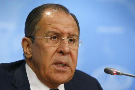 Russian Foreign Minister Lavrov gives a news conference in Moscow