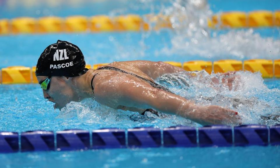 Sophie Pascoe in the women's 100m butterfly.