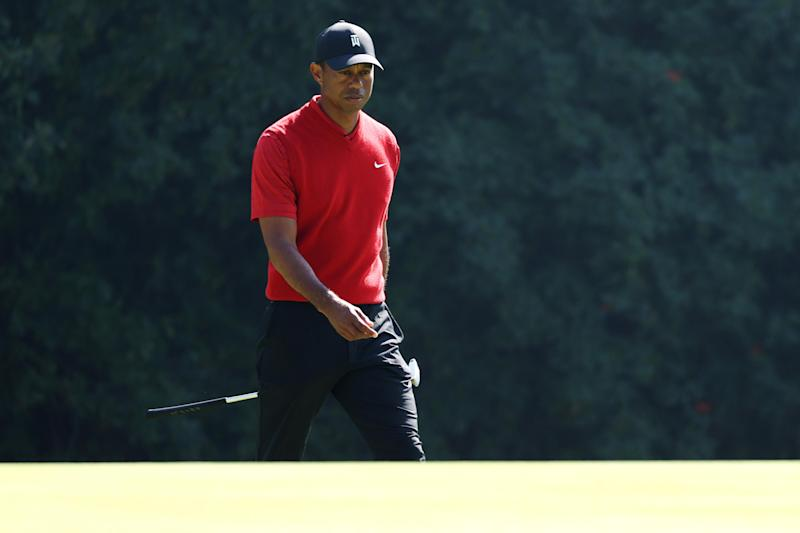 PACIFIC PALISADES, CALIFORNIA - FEBRUARY 16: Tiger Woods of the United States walks on the 12th green during the final round of the Genesis Invitational on February 16, 2020 in Pacific Palisades, California. (Photo by Chris Trotman/Getty Images)