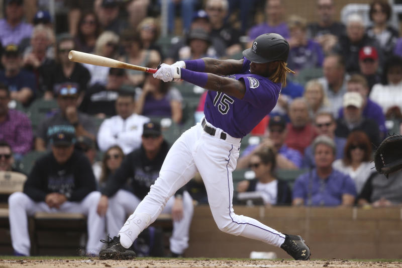 Colorado Rockies' Raimel Tapia