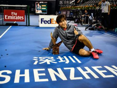 Shenzhen Open: Japan's Yoshihito Nishioka beats Pierre-Hugues Herbert to win first ATP World Tour singles title of career