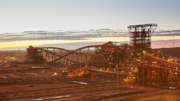 The ore processing facility at Fortescue Metals Group's Christmas Creek mine is pictured in this company photo. The iron ore operation is located in the Pilbara region of Western Australia. (Fortescue Metals Group - image credit)