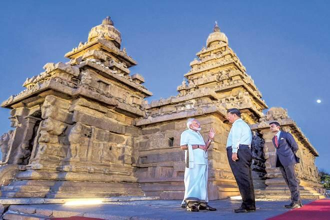 Prime Minister Narendra Modi and Chinese President Xi Jinping in Mamallapuram on Friday