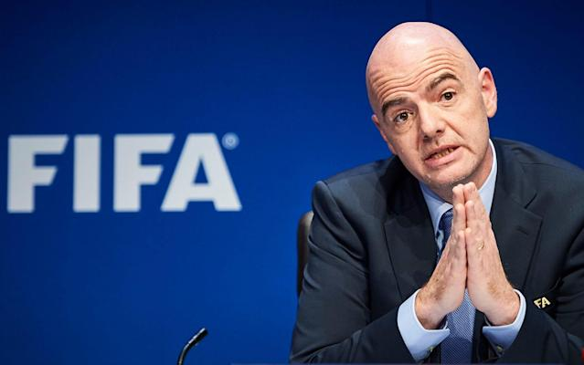 Gianni Infantino is in the middle of a re-election drive - AFP