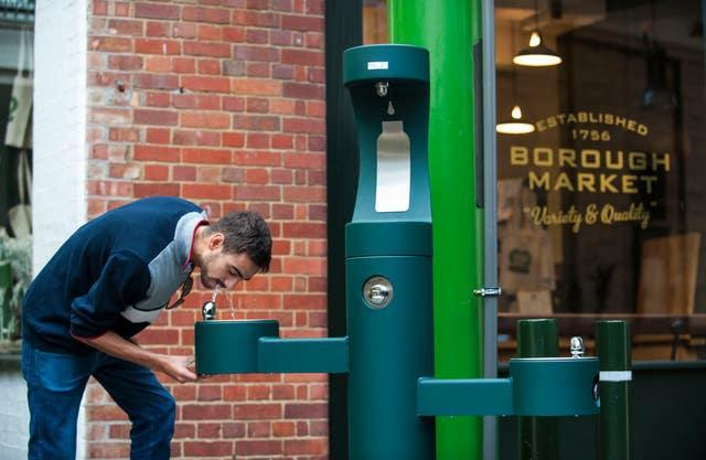 A drinking fountain (Lucy Young/Borough Market/PA)
