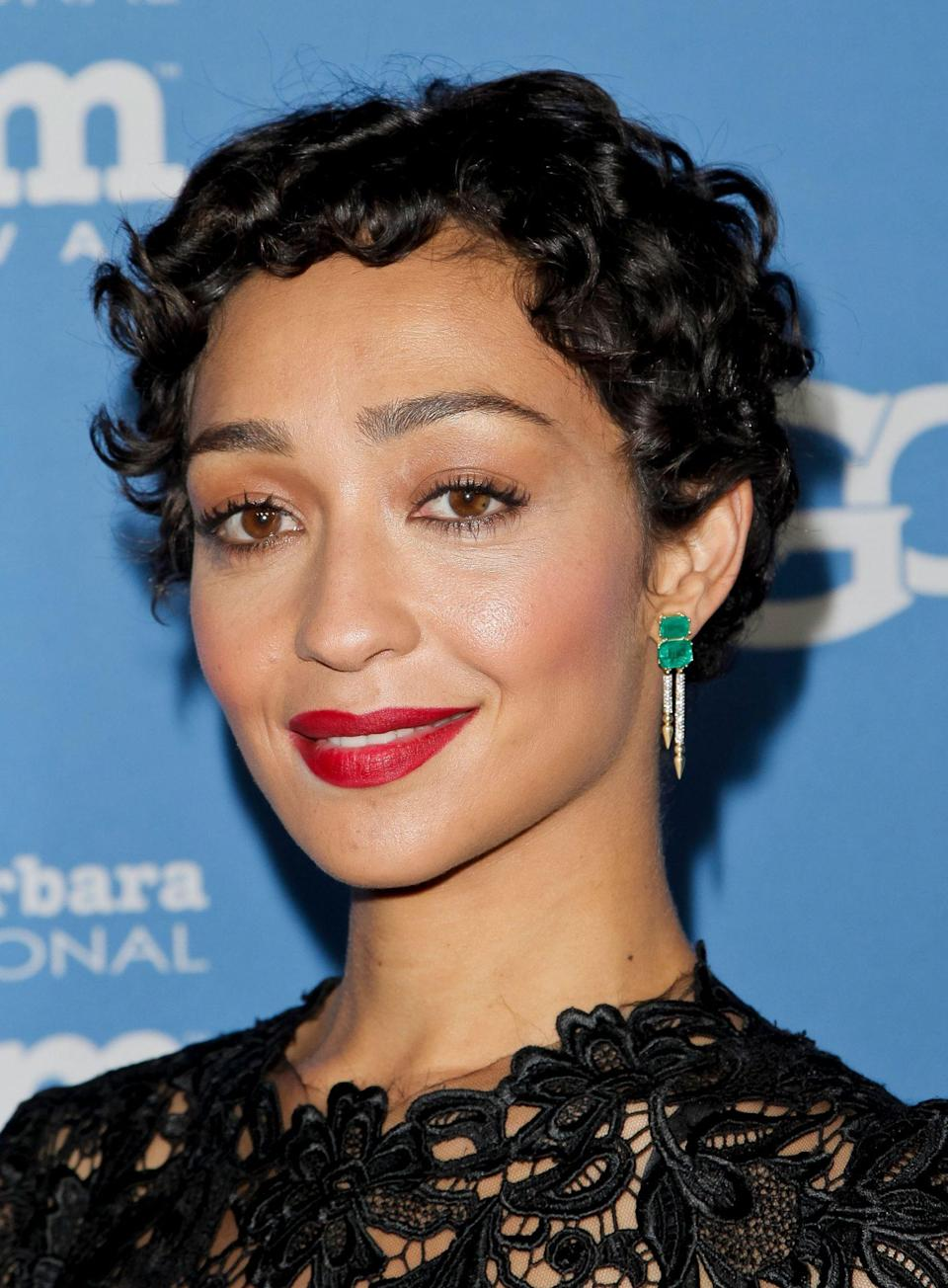 """<p>Bergamy predicts that a textured pixie cut like actress Ruth Negga's here is going to be the """"it"""" cut of the summer. """"A pixie is a sassy look that is light and gives a youthful look,"""" she tells us. """"Adding texture gives a whole new dimension to this already sexy cut.""""</p>"""