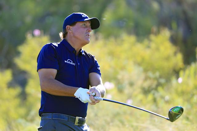 Phil Mickelson got off to a hot start at the Shriners Hospitals for Children Open, and credits his apparent return to form largely to weight loss in recent months. (Tom Pennington/Getty Images)