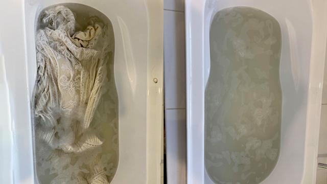 Bride S Shocking Photo After Cleaning Second Hand Wedding Dress