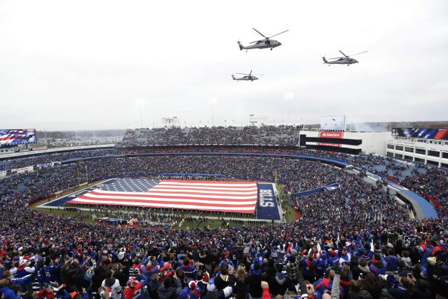 A veterans group is angry with the NFL over a proposed ad in the Super Bowl LII commemorative program. (AP)