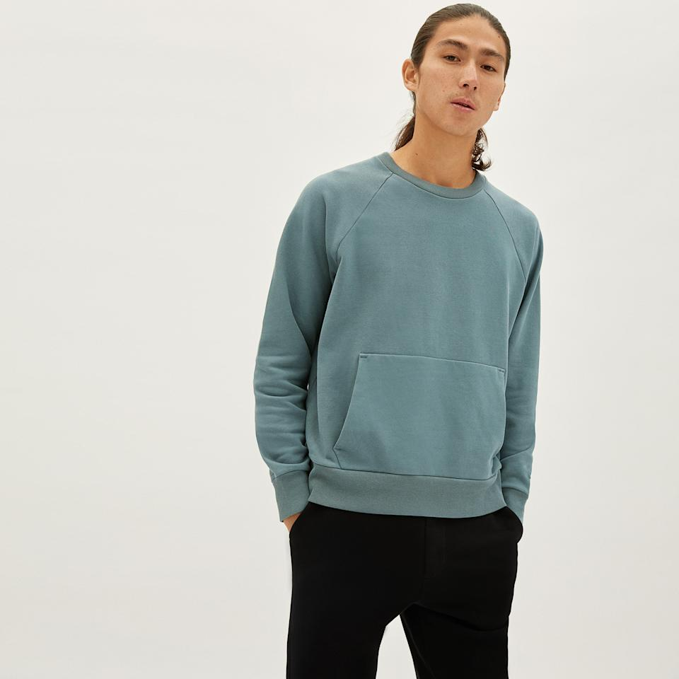 The Track Crewneck. Image via Everlane.