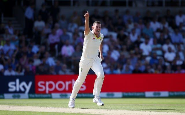 Josh Hazelwood took five for eight as India slumped to their lowest-ever total of 36