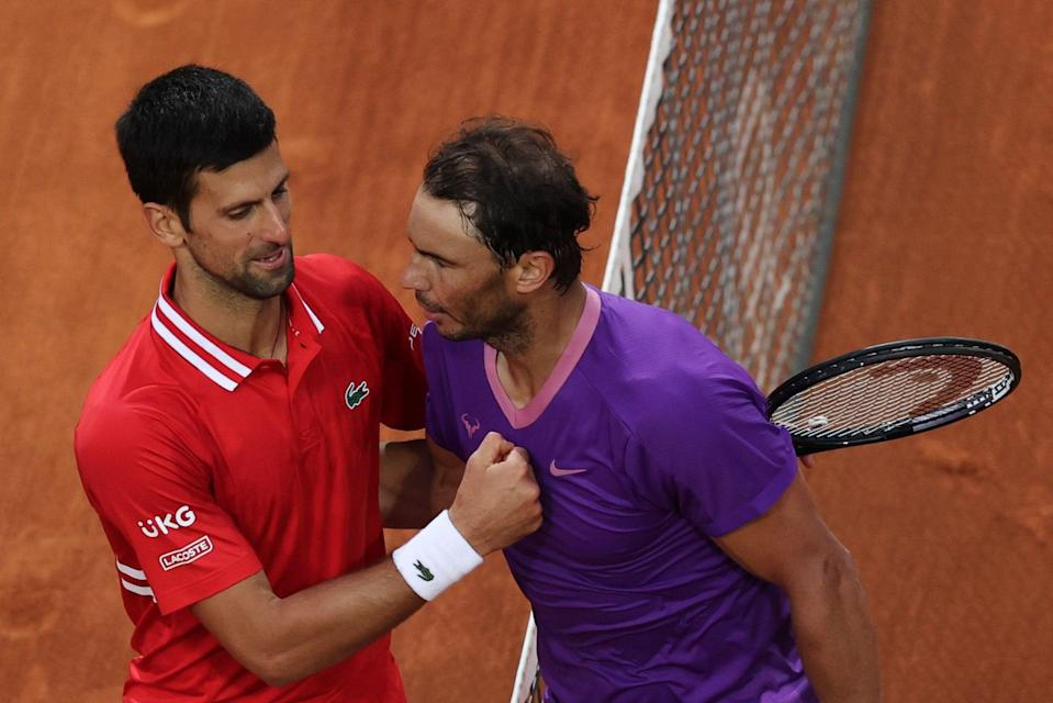 Novak Djokovic and Rafael Nadal meet in the French Open semi-finals (Getty Images)