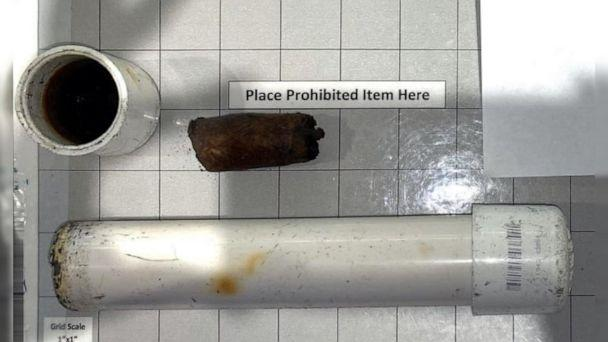PHOTO: This item, which was originally believed to be a pipe bomb in a traveler's carry-on bag at LaGuardia Airport on Sunday, Nov. 8, 2020, turned out to be a homemade cigar humidor and was confiscated. (Transportation Security Administration)