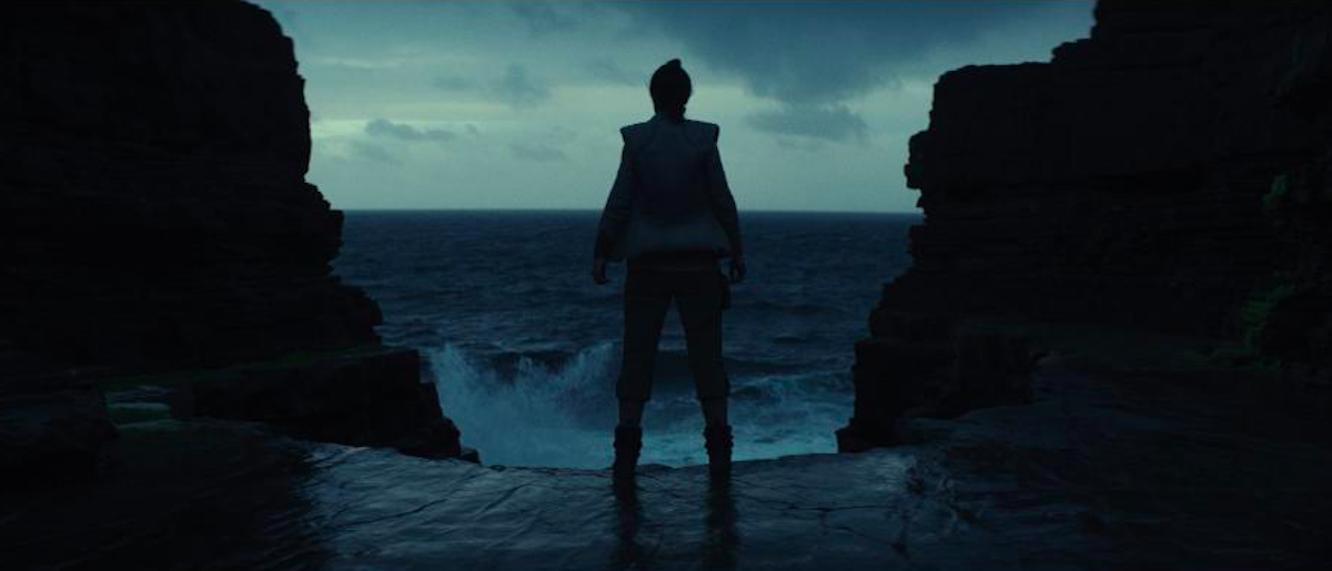 <p>Despite Luke's words, Rey remains on the island, determined to learn from the Jedi master.<br />(Credit: Lucasfilm) </p>