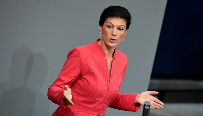 "Sahra Wagenknecht has broken with traditional leftist orthodoxy on immigration, saying ""the idea of 'open borders for all' is unrealistic."""