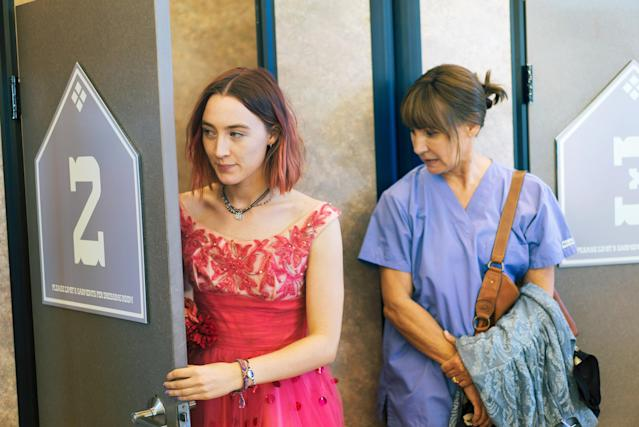 Saoirse Ronan and Laurie Metcalf in <em>Lady Bird.</em> (Photo: A24/courtesy Everett Collection)