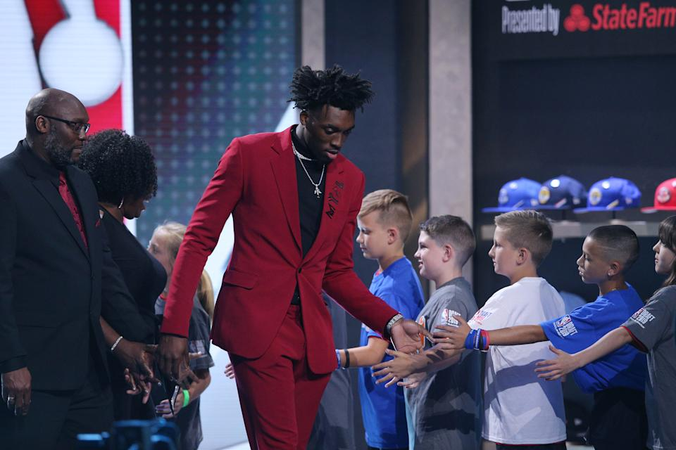 Nassir Little had a rough night at the NBA draft but could end up in the winner's column in the long run. (Reuters)