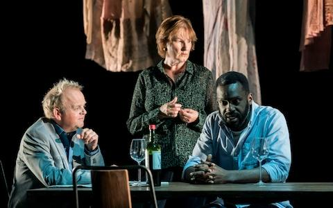 Toby Jones, Deborah Findlay and Sule Rimi - Credit: Johan Persson