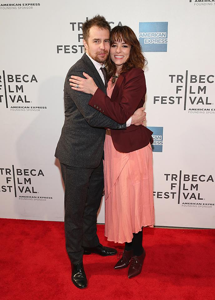 "Sam Rockwell and Parker Posey attend the Tribeca Film Festival 2013 after party for ""A Single Shot"" sponsored by Heineken on April 26, 2013 in New York City."