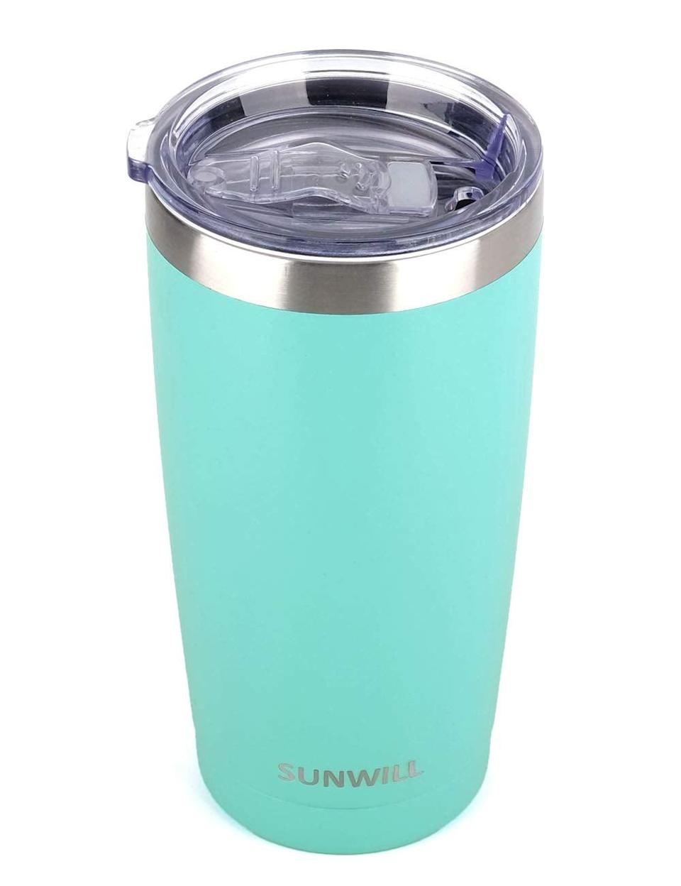 <p>Keep morning coffee nice and hot with the <span>Sunwill Tumbler With Lid</span> ($15). </p>
