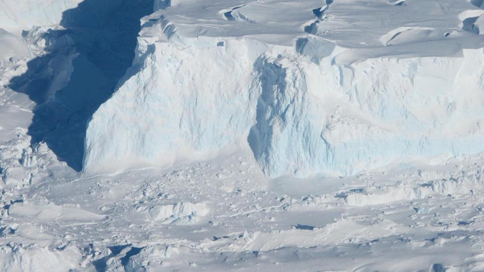 Thwaites Glacier acts like a giant cork that holds back the West Antarctic Ice Sheet (NASA)