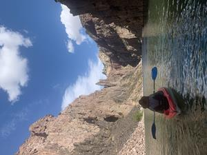 A short drive from Casper, Fremont Canyon is one of Wyoming's most stunning features. With high cliffs on either side and the North Platte River running through the middle, it makes it a perfect place to fish and rock climb.