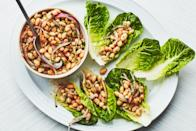 """Spring cleaning includes your pantry and may spark loads of picnic ideas. Make use of those dried beans you've stockpiled. After soaking them overnight, this easily shareable picnic food comes together quickly. <a href=""""https://www.epicurious.com/recipes/food/views/white-bean-salad-with-lemon-and-cumin-236779?mbid=synd_yahoo_rss"""" rel=""""nofollow noopener"""" target=""""_blank"""" data-ylk=""""slk:See recipe."""" class=""""link rapid-noclick-resp"""">See recipe.</a>"""