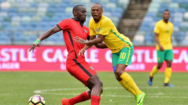Percy Tau scored on debut as Bafana Bafana beat Guinea-Bissau 3-1 in an international friendly match at the Moses Mabhida Stadium on Saturday