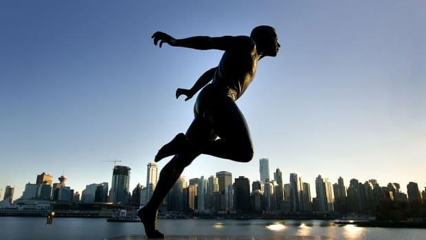 A bronze statue of Harry Jerome in Stanley Park sits not far from Brockton Oval, where the track and field legend trained in his early running career.