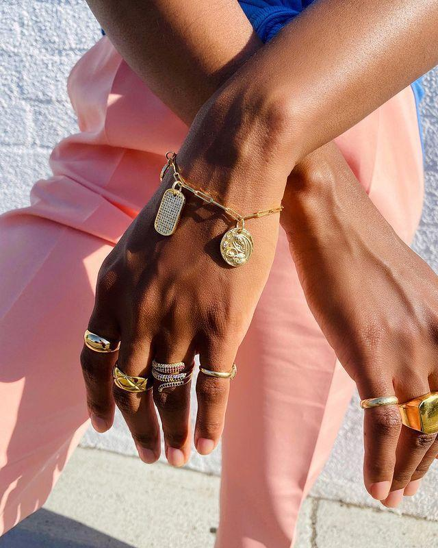 """<p>Founded by TeQuia Miller, 1929 Galore is a treasure trove for those with a weakness for all things bling-related. Think: perfectly stacked, chunky gold rings and delicately layered necklaces - this brand is your new go-to for polished, on-trend accessories.</p><p><a class=""""link rapid-noclick-resp"""" href=""""https://1929galore.com/"""" rel=""""nofollow noopener"""" target=""""_blank"""" data-ylk=""""slk:Shop 1929 Galore"""">Shop 1929 Galore</a></p><p><a href=""""https://www.instagram.com/p/CC689O5hCOv/"""" rel=""""nofollow noopener"""" target=""""_blank"""" data-ylk=""""slk:See the original post on Instagram"""" class=""""link rapid-noclick-resp"""">See the original post on Instagram</a></p>"""