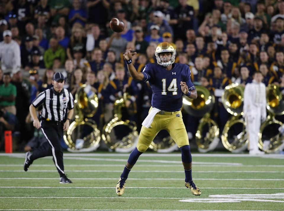 Notre Dame QB DeShone Kizer could be the No. 1 pick in the 2017 NFL draft (AP).
