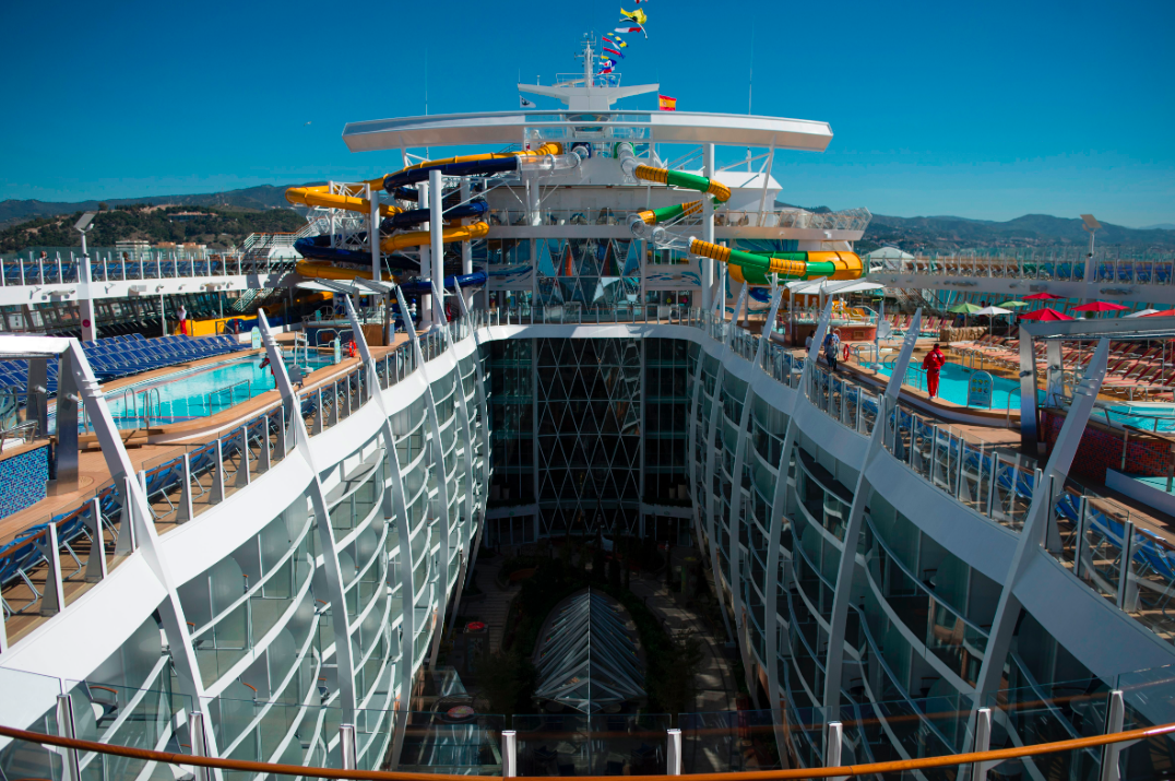 <p>There are eight decks on board the vessel, that cost £959m to construct. (Getty) </p>